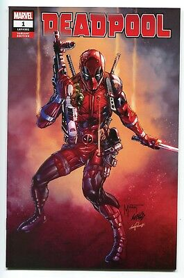 DEADPOOL #1 Chase Variant Cover by Marat Mychaels Rob Liefeld Marvel 2018