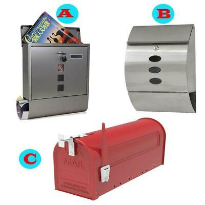Mail Box Postal Box Stainless Steel / Iron Security Envelope Letter Magazine New