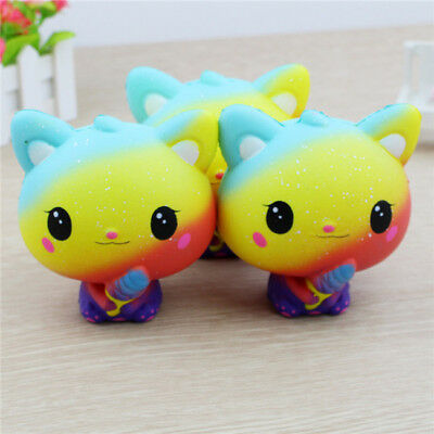 Cute Cat Shape Jumbo Slow Rising Squishes Squeeze Kids Stress Relieve Toys Z