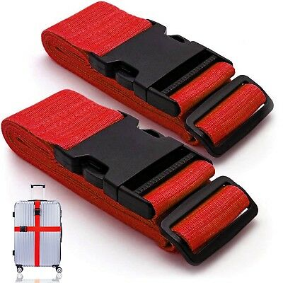 New Heavy Duty Luggage Straps Suitcase Belts Travel Bag Accessories 1/2/4 Pack