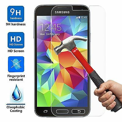2X For Samsung Galaxy S6 S7 Premium Tempered Glass Screen Protector Film & Case#