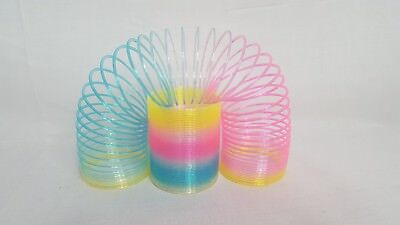 Slinky Rainbow Spring Coil 5cm Classic Childrens Slinky Toy Bouncy Stretchy Toy