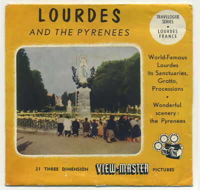 Lourdes and the Pyrenees France 1956 Sawyer's ViewMaster Packet w/Reels 1415-ABC