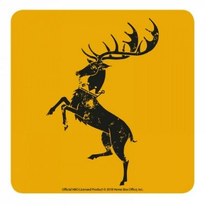 Genuine HBO Game of Thrones Baratheon House Sigil Single Coaster Drinks Mat Stag