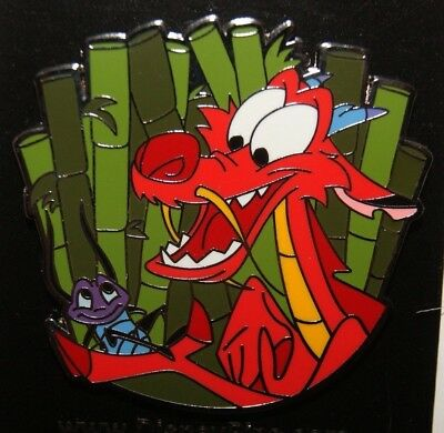 Disney Parks Mulan Mushu Dragon Holding Cricket Cri-kee Lucky Sidekicks Pin