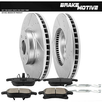 Note: 300mm 2016 For Ford Fusion Front Cross Drilled Slotted and Anti Rust Coated Disc Brake Rotors and Ceramic Brake Pads