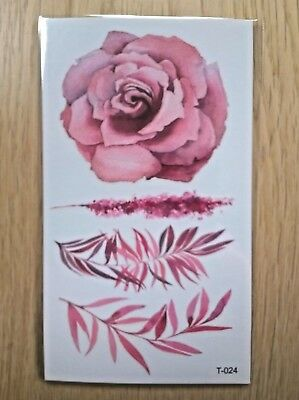 PINK FLOWERS TATTOOS 110mm X 60mm T024