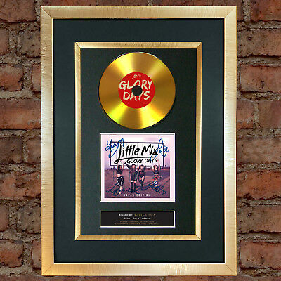 #173 GOLD DISC LITTLE MIX Glory Days Album Cd Signed Autograph Mounted Print