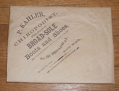 c1908 Antique Wrapping Paper Advertising Chiropodist podiatrist foot doctor