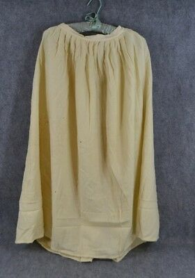 antique wool petticoat  white handmade hand woven original pre Civil War Era