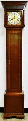 Antique English 8 Day Mahogany Musical Westminster Chime Cottage Longcase Clock