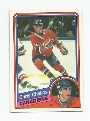 1984 85 Opc #259 Chris Chelios Rookie Montreal Canadiens O-Pee-Chee