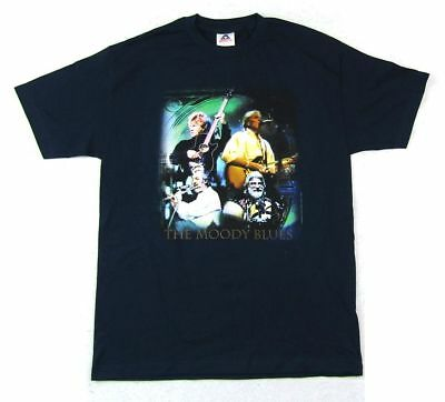 Moody Blues Hall Of Fame Tour Blue T Shirt New Official Band Vintage NOS 2000