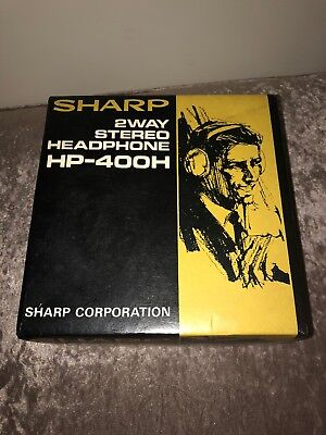 Vintage SHARP HP-400H 2-Way Stereo HEADPHONES - boxed