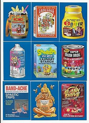 2017 Topps Wacky Packages 50th Anniversary BLUE Parallel Set  90 CARDS