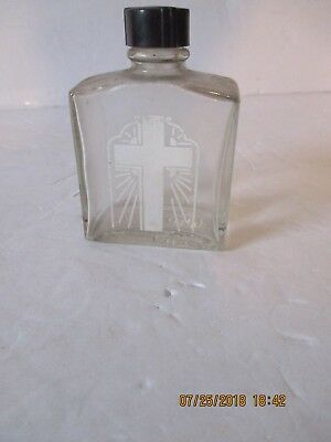 Vintage Glass  HOLY WATER BOTTLE
