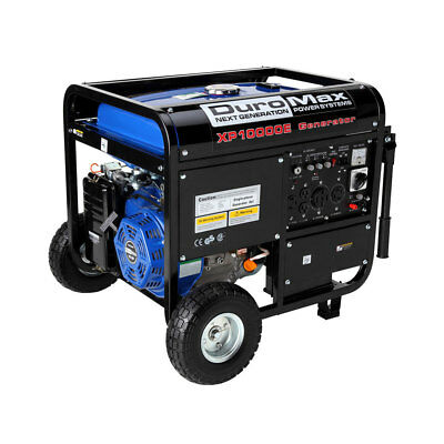 DuroMax XP10000E 10000 Watt 18 Hp Portable Gas Generator with Electric Start