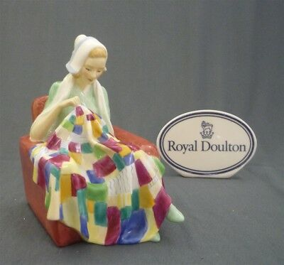 PATCHWORK QUILT Royal Doulton England Pretty Lady Bone China Figurine HN 1984