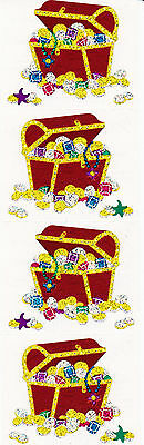 Mrs Treasure Chest Pirates Booty Anchor 4 Strips Grossman/'s Stickers