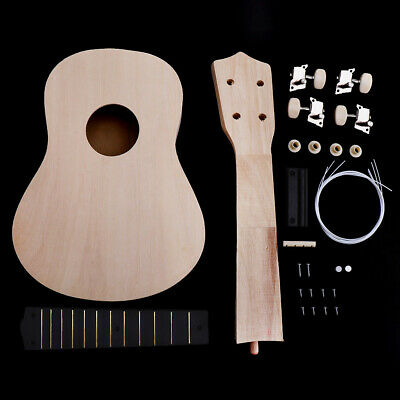 21'' Ukulele Hawaii Guitar DIY Kit Wooden Musical Instrument Beginner Kids Gift