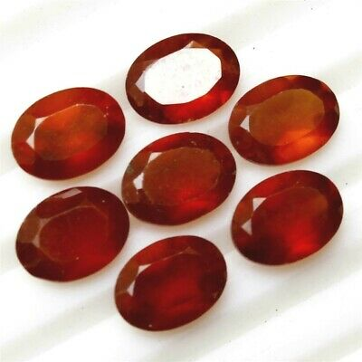 Wholesale Lot 10x8mm Oval Cut Natural Hessonite Garnet Loose Calibrated Gemstone