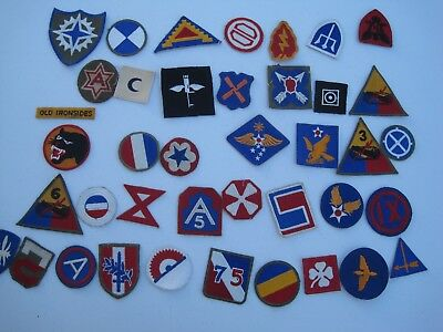 Ww Ii Us Patch Group 40 Infantry Army Air Corps Armor Original No Duplicates