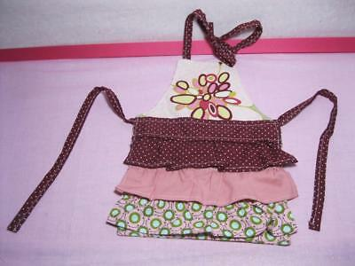 "fits American Girl/Battat 18"" Doll Clothes-HANDMADE Ruffle Apron Multi Print"