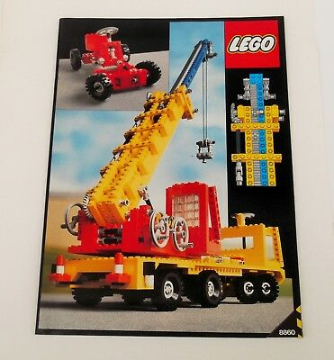 Vintage Lego Classic Technic Instructions 8860 Car Chassis No Lego