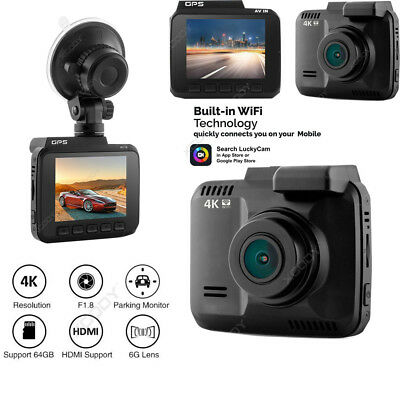 HD 2.4'' 1080P 4K Car DVR Video Recorder Camera Dash Cam Night Vision G-Sensor