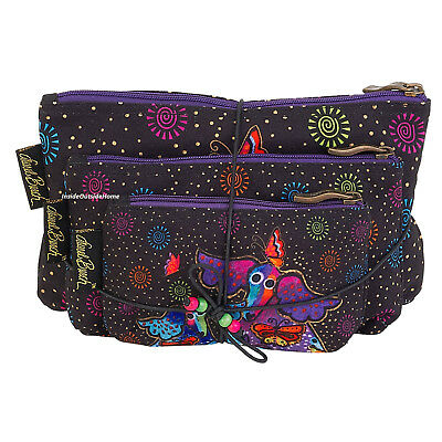 Laurel Burch Dogs Papillon Makeup Bag 3pc Set Organizer Meds Crafts NEW 2018