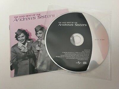 DISC/ ARTWORK ONLY - The Very Best of THE ANDREWS SISTERS CD ALBUM