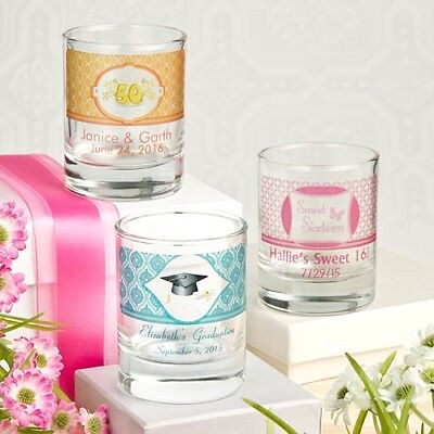 100 Personalized Shot Glasses Wedding Bridal Baby Shower Birthday Party Favors
