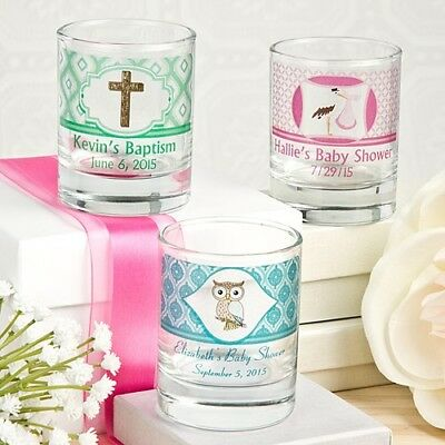 40 Personalized Shot Glasses Wedding Bridal Baby Shower Birthday Party Favors