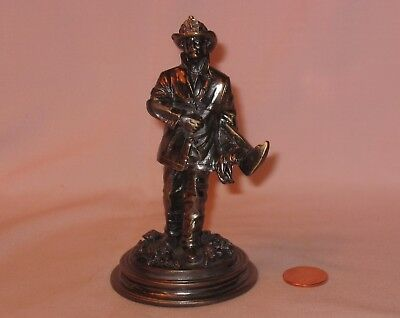 Fireman Duty Call Solid Pewter Figure; By Vanmark 2002 Red Hats Courage Series