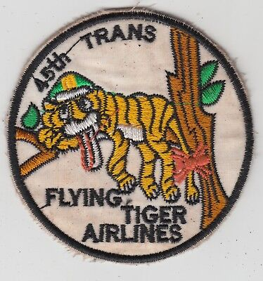 US Army 45th Transport Battalion Patch Flying Tiger Airlines