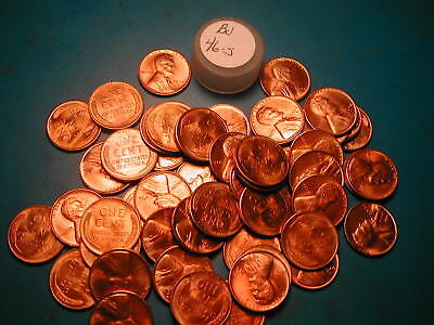 1946-S Lincoln Wheat Cent 50 COIN FULL ROLL BU