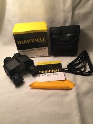Bushnell 13-7250 Ensign Compact 7X25 Binoculars With Case,Box, Instructions