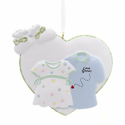 Holiday Ornaments LOVE GROWS Polyresin Pregnant Christmas Baby Hh84