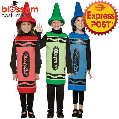CK1240 Child Crayola Crayon Tunic Book Week Boys Girls Kids Costume Funny Outfit