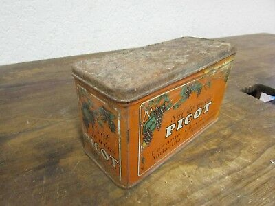 Old Mexican Picot Tin-Antique-Vintage-Antacid-Collectible-Very Unique-9x4x5 in