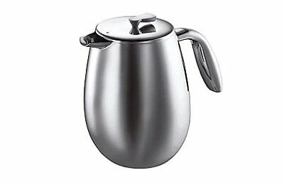 Bodum Columbia Double Wall Coffee Maker, Stainless Steel - 12-Cup 1.5 L , Shiny