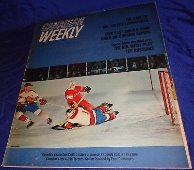 BR1588 Vtg 1965 Toronto ON Star Canadian Weekly NHL Play Russia 20 Pages