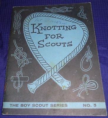 BR1769 Vtg Canadian Boy Scouts Knotting For Scouts 32 Pages