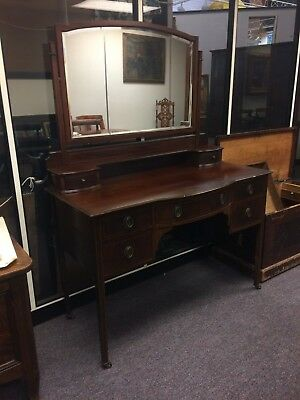 Antique Edwardian Mahogany Dressing Table