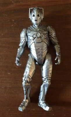Dr Doctor Who Silver Cyberman Action Figure Figurine Poseable BBC 2013 4""