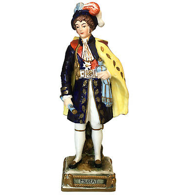 Rare Bourdois & Bloch porcelain figure of Napoleonic General & Admiral Murat