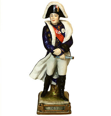 Rare Bourdois & Bloch porcelain figure of Napoleonic Marshal Ney
