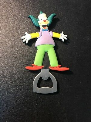 The Simpsons 2005 Krusty The Clown Rubberized Magnetic Bottle Opener!