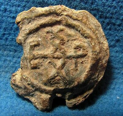 LEAD bulla Byzantine 5th-7th. cen. AD. Judea Archaeology ancient Judaea.