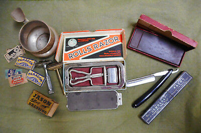#ww.    Job Lot Of Shaving Items - Old Razors And Accessories